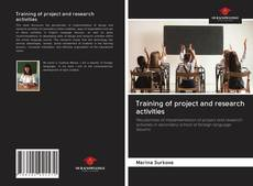 Bookcover of Training of project and research activities
