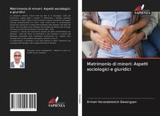 Capa do livro de Matrimonio di minori: Aspetti sociologici e giuridici