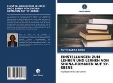 Copertina di EINSTELLUNGEN ZUM LEHREN UND LERNEN VON SHONA-ROMANEN AUF 'O'-EBENE