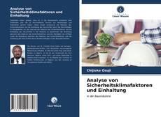 Bookcover of Analyse von Sicherheitsklimafaktoren und Einhaltung