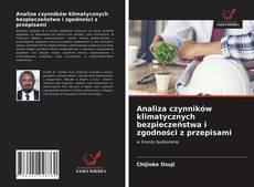 Bookcover of Analiza czynników klimatycznych bezpieczeństwa i zgodności z przepisami