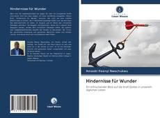 Hindernisse für Wunder kitap kapağı