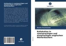 Bookcover of Kollokation in zweisprachigen und einsprachigen englischen Wörterbüchern