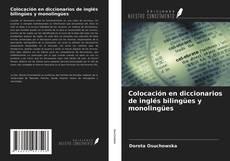Bookcover of Colocación en diccionarios de inglés bilingües y monolingües