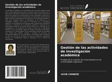 Portada del libro de Gestión de las actividades de investigación académica