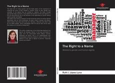 Capa do livro de The Right to a Name