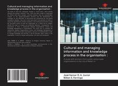 Capa do livro de Cultural and managing information and knowledge process in the organisation :