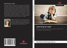 Capa do livro de Learning to read