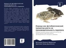 Bookcover of Корица как фотобиотический промотор роста на производительность перепела