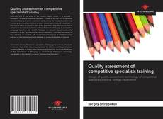 Bookcover of Quality assessment of competitive specialists training