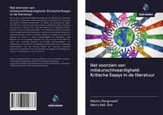 Bookcover of Het voorzien van milieurechtvaardigheid: Kritische Essays in de literatuur