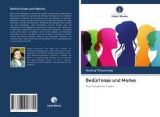 Portada del libro de Bedürfnisse und Motive