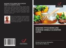 Bookcover of BADANIE FITOCHEMICZNE KORZENI EMBELII SCHIMPERI VATKE