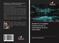 Copertina di Analisi di un modello frazionario per la trasmissione di virus informatici