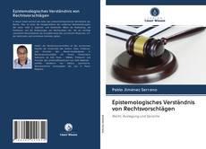 Capa do livro de Epistemologisches Verständnis von Rechtsvorschlägen