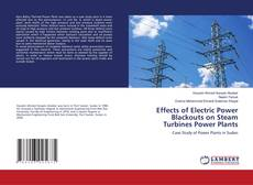 Capa do livro de Effects of Electric Power Blackouts on Steam Turbines Power Plants