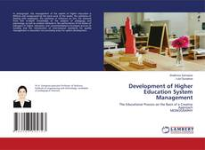 Bookcover of Development of Higher Education System Management