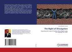 Bookcover of The Right of Divulgation