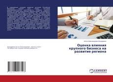 Bookcover of Оценка влияния крупного бизнеса на развитие региона
