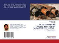 Capa do livro de An Experimental Hot Corrosion Study of HVOF Sprayed NiCr50Al and WC-1