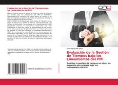 Portada del libro de Evaluación de la Gestión de Tiempos bajo los Lineamientos del PMI