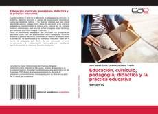 Capa do livro de Educación, currículo, pedagogía, didáctica y la práctica educativa