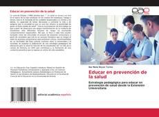 Portada del libro de Educar en prevención de la salud