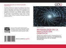 Copertina di METODOLOGÍA DE LA INVESTIGACIÓN CIENTÍFICA
