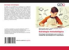 Buchcover von Estrategia metodológica