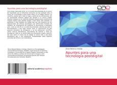 Buchcover von Apuntes para una tecnología postdigital