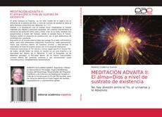 Buchcover von MEDITACIÓN ADVAITA II: El alma=Dios a nivel de sustrato de existencia