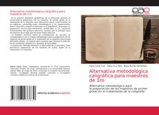 Bookcover of Alternativa metodológica caligráfica para maestros de 1ro