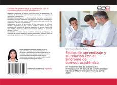 Bookcover of Estilos de aprendizaje y su relación con el síndrome de burnout académico