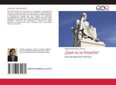 Buchcover von ¿Qué es la filosofía?
