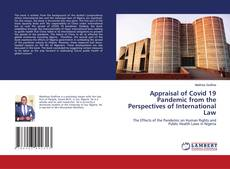 Capa do livro de Appraisal of Covid 19 Pandemic from the Perspectives of International Law