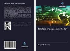 Capa do livro de Zakelijke onderzoeksmethoden