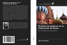 División de poderes en la Federación de Rusia kitap kapağı