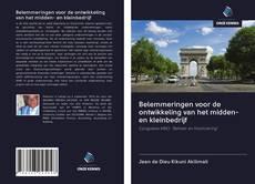 Borítókép a  Belemmeringen voor de ontwikkeling van het midden- en kleinbedrijf - hoz