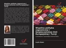 Wspólna polityka zagraniczna i bezpieczeństwa Unii Europejskiej i Turcji kitap kapağı