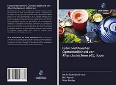 Buchcover von Fytoconstituenten Opmerkelijkheid van Rhynchotechum ellipticum