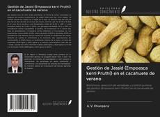Portada del libro de Gestión de Jassid (Empoasca kerri Pruthi) en el cacahuete de verano
