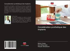 Обложка Considération prothétique des implants