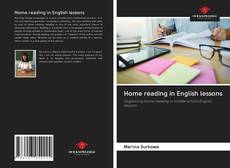 Couverture de Home reading in English lessons