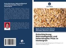 Bookcover of Entschlackung: Nährstoffgehalt und heterotrophe Pilze in Immergrün
