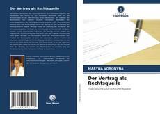Buchcover von Der Vertrag als Rechtsquelle