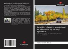 Capa do livro de Reliability of environmental and social monitoring through digitisation