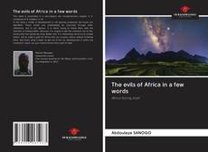 Capa do livro de The evils of Africa in a few words