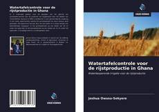 Bookcover of Watertafelcontrole voor de rijstproductie in Ghana