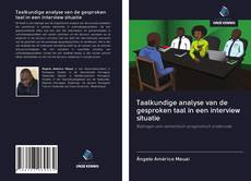 Borítókép a  Taalkundige analyse van de gesproken taal in een interview situatie - hoz