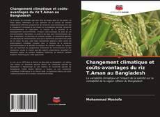 Capa do livro de Changement climatique et coûts-avantages du riz T.Aman au Bangladesh